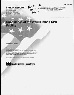 Primary view of object titled 'Subsidence at the Weeks Island SPR Facility'.