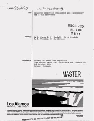 Primary view of object titled 'Advanced reservoir management for independent oil and gas producers'.