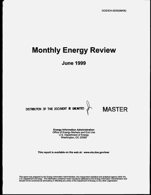 Primary view of object titled 'Monthly energy review, June 1999'.