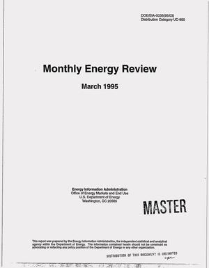 Primary view of object titled 'Monthly energy review, March 1995'.