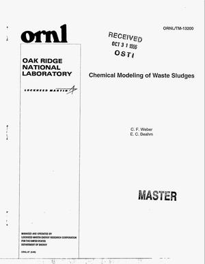 Primary view of object titled 'Chemical modeling of waste sludges'.