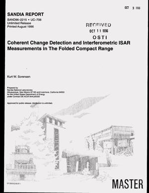 Primary view of object titled 'Coherent change detection and interferometric ISAR measurements in the folded compact range'.