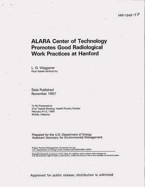 Primary view of object titled 'ALARA Center of Technology promotes good radiological work practices at Hanford'.