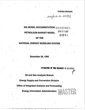 Primary view of object titled 'EIA model documentation: Petroleum market model of the national energy modeling system'.