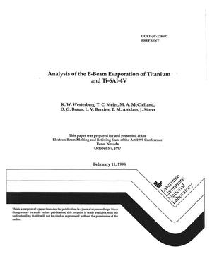 Primary view of object titled 'Analysis of the e-beam evaporation of titanium and Ti-6Al-4V'.
