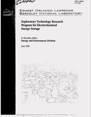 Primary view of object titled 'Exploratory technology research program for electrochemical energy storage. Annual report for 1995'.