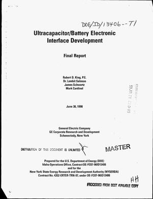 Primary view of object titled 'Ultracapacitor/battery electronic interface development. Final report'.