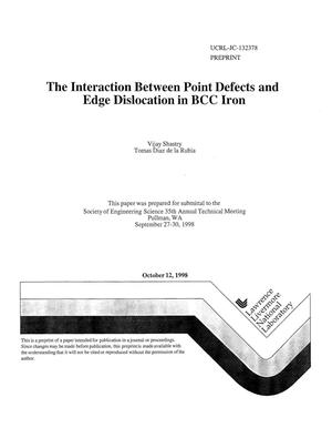 Primary view of object titled 'Interaction between point defects and edge dislocation in BCC iron'.
