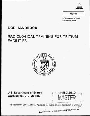 Primary view of object titled 'Radiological training for tritium facilities'.
