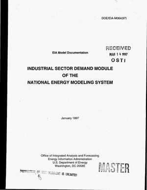 Primary view of object titled 'Model documentation report: Industrial sector demand module of the National Energy Modeling System'.