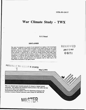 Primary view of object titled 'War climate study'.