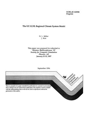 Primary view of object titled 'The UC-LLNL Regional Climate System Model'.