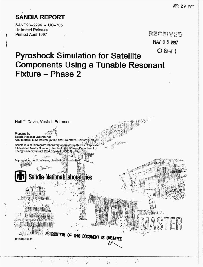 Pyroshock simulation for satellite components using a tunable