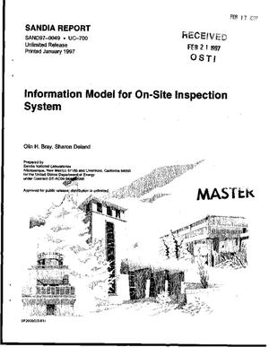 Primary view of object titled 'Information model for on-site inspection system'.