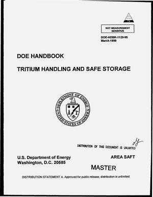 Primary view of object titled 'DOE handbook: Tritium handling and safe storage'.