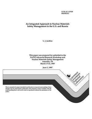 Primary view of object titled 'Integrated approach to nuclear materials safety management in the U.S. and Russia'.