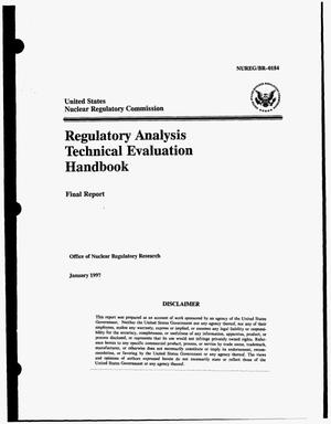 Primary view of object titled 'Regulatory analysis technical evaluation handbook. Final report'.