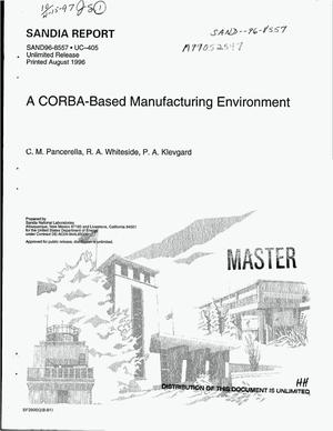 Primary view of object titled 'A CORBA-based manufacturing environment'.