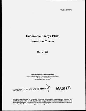 Primary view of object titled 'Renewable energy 1998: Issues and trends'.