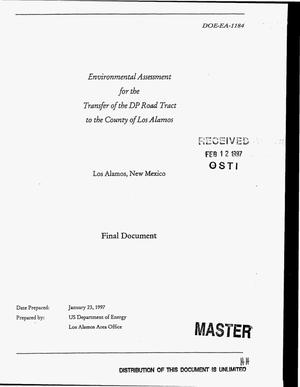 Primary view of object titled 'Environmental assessment for the transfer of the DP Road tract to the County of Los Alamos. Final document'.