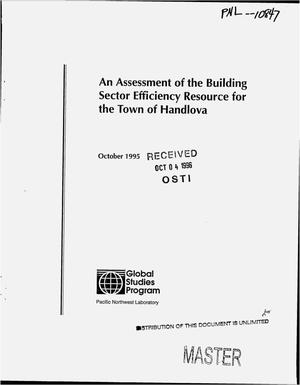 Primary view of object titled 'An assessment of the building sector efficiency resource for the Town of Handlova'.