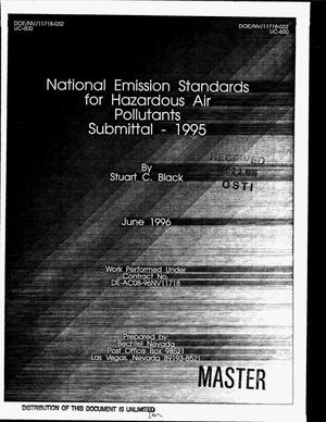 Primary view of object titled 'National Emission Standards for Hazardous Air Pollutants Submittal - 1995'.