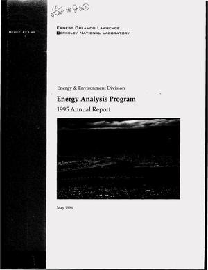 Primary view of object titled 'Energy analysis program. 1995 Annual report'.