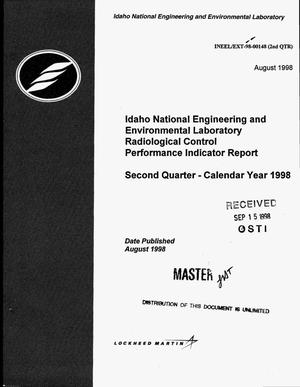 Primary view of object titled 'Idaho National Engineering and Environmental Laboratory radiological control performance indicator report -- Second quarter, calendar year 1998'.