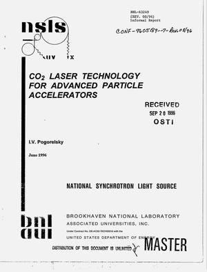 Primary view of object titled 'CO{sub 2} laser technology for advanced particle accelerators. Revision'.