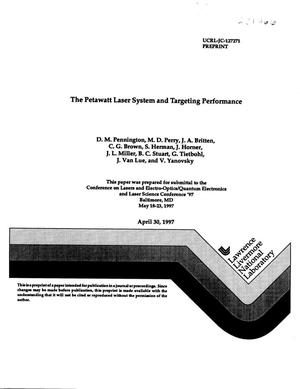 Primary view of object titled 'Petawatt laser system and targeting performance'.