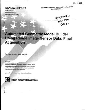 Primary view of object titled 'Automated Geometric Model Builder Using Range Image Sensor Data: Final Acquistion'.