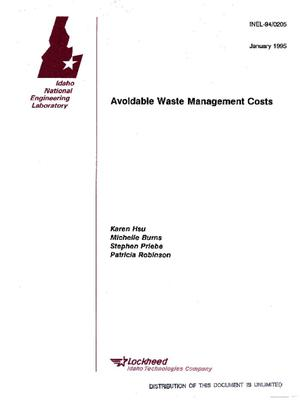 Primary view of object titled 'Avoidable waste management costs'.