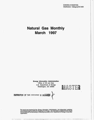 Primary view of object titled 'Natural gas monthly, March 1997'.