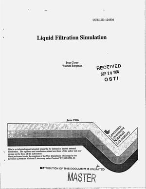 Primary view of object titled 'Liquid filtration simulation'.