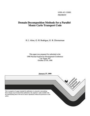 Primary view of object titled 'Domain decomposition methods for a parallel Monte Carlo transport code'.