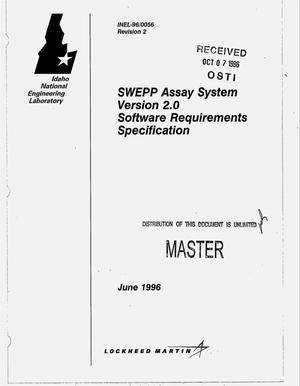 Primary view of object titled 'SWEPP assay system version 2.0 software requirements specification'.