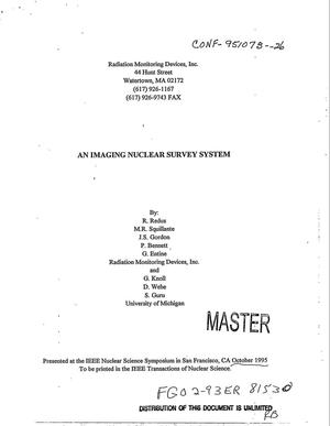Primary view of object titled 'An imaging nuclear survey system'.