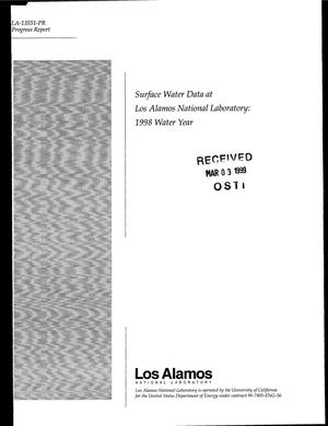 Primary view of object titled 'Surface Water Data at Los Alamos National Laboratory 1998 Water Year'.