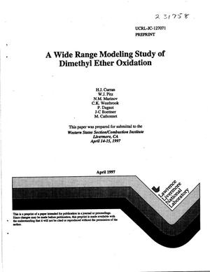 Primary view of object titled 'Wide range modeling study of dimethyl ether oxidation'.