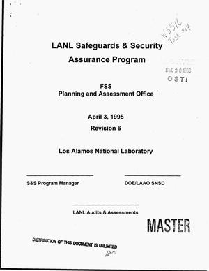 Primary view of object titled 'LANL Safeguards and Security Assurance Program. Revision 6'.