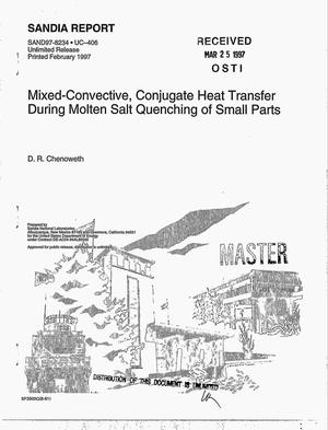 Primary view of object titled 'Mixed-convective, conjugate heat transfer during molten salt quenching of small parts'.