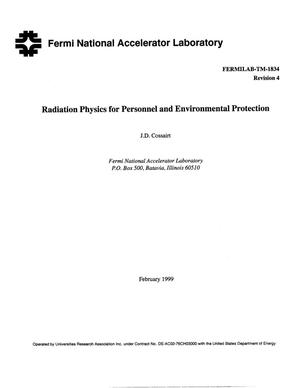 Primary view of object titled 'Radiation Physics for Personnel and Environmental Protection'.