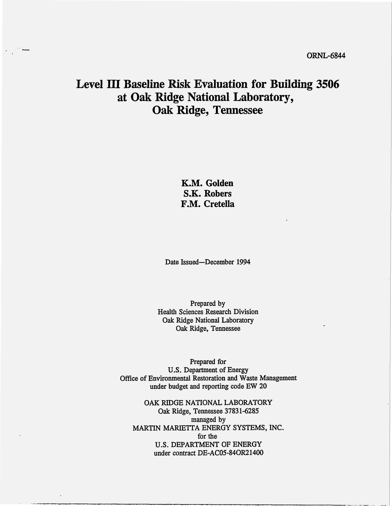 Level 3 baseline risk evaluation for Building 3506 at Oak Ridge National Laboratory, Oak Ridge, Tennessee                                                                                                      [Sequence #]: 4 of 367