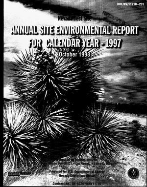 Primary view of object titled 'Nevada Test Site annual site environmental report for calendar year 1997'.