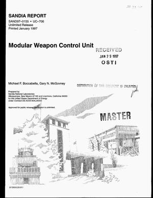 Primary view of object titled 'Modular weapon control unit'.