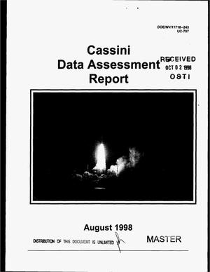 Primary view of object titled 'Cassini data assessment report'.
