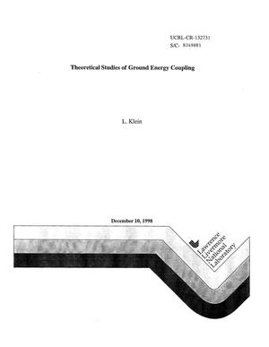 Primary view of object titled 'Fiscal Year 1998 report theoretical studies of ground energy coupling'.