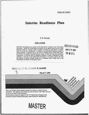 Primary view of object titled 'Interim readiness plan'.