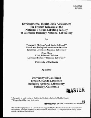 Primary view of object titled 'Environmental health-risk assessment for tritium releases at the National Tritium Labeling Facility at Lawrence Berkeley National Laboratory'.