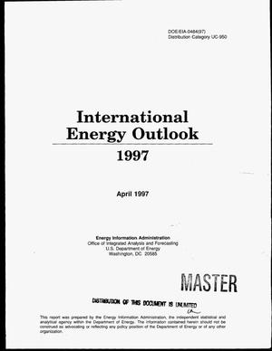 Primary view of object titled 'International energy outlook 1997 with projections to 2015'.